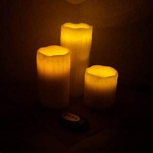 Led Kerzen Echtwachs : 3 led echtwachs kerzen mit fernbedienung flackernd leds ~ Eleganceandgraceweddings.com Haus und Dekorationen