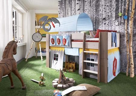 Kinderzimmer Junge Massiv by Hochbett Kinderbett Ritter Tunnel Vorhang Kinderzimmer