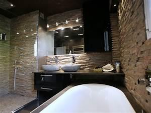 salle de bain avec mur en pierre salle de bain With salle de bain design avec evier pierre reconstituée