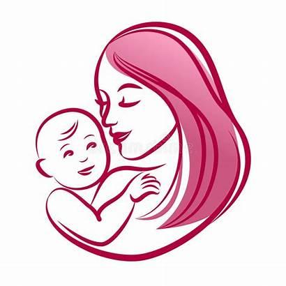 Outline Mother Madre Silhouette Moeder Haar Behandla