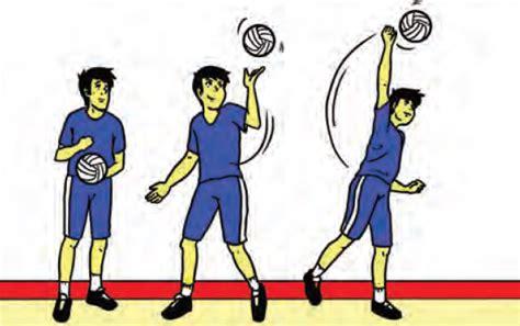 gerakan gerakan servis bola voli dilengkapi  gambar