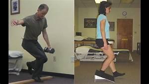 Decline Squat Patella Tendon Eccentric Loading Exercise