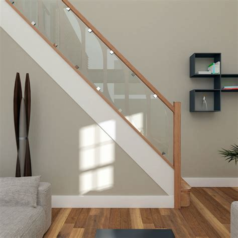 Stair Banister Glass by Glass Staircase Balustrade Kit Glass Stair Parts Oak