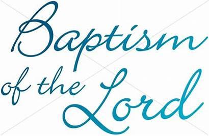 Baptism Lord Clipart Jesus Words Sharefaith Clip