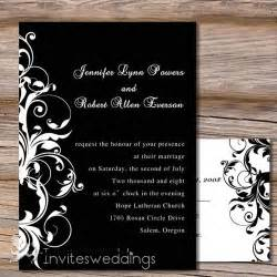 capable white and black wedding invitation iwi130 wedding invitations invitesweddings - Black Wedding Invitations