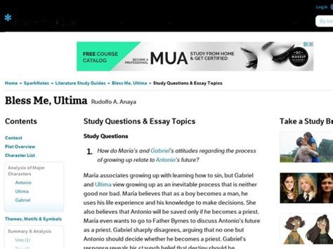 An Essay In Bless Me by Bless Me Ultima Study Questions Essay Topics