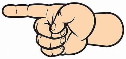 Pointing Arrow Finger Clipart Left Transparent Clip