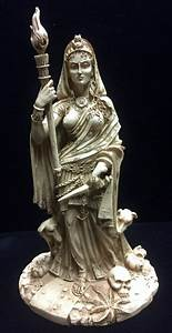 Hecate, Hekate, Goddess, Of, Magic, Witchcraft, The, Night, Moon, Ghosts, And, Necromancy, U2013, Bone