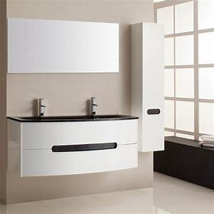 meuble salle de bain design double vasque collection et With meuble vasque salle de bain design