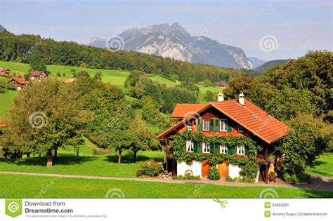 swiss chalet stock image image of europe farmhouse 34959261