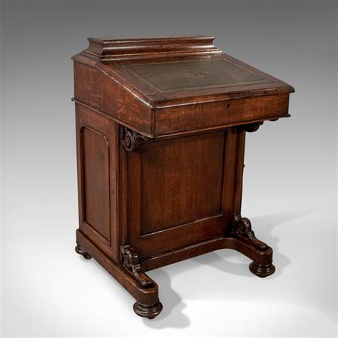 ebay bureau antique davenport oak writing desk