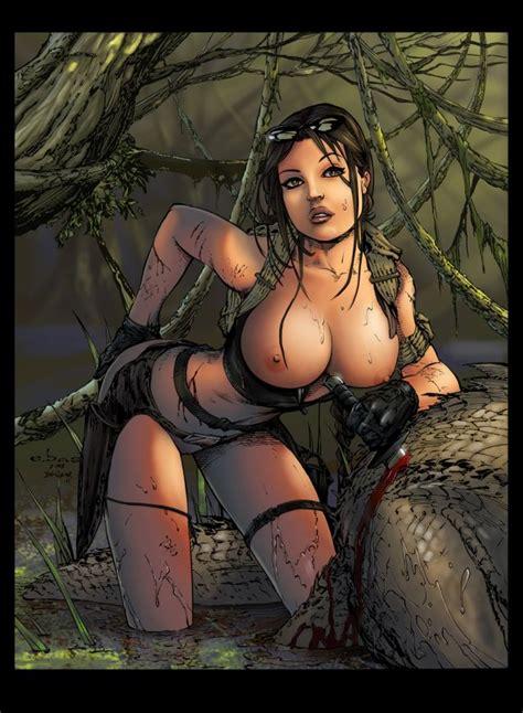 Busty Square Enix Brunette Babe Lara Croft Hardcore Porn