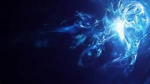 Full HD Wallpaper glow smoke blue dark, Desktop ...