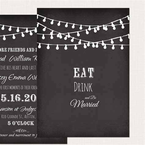chalkboard invitation templates
