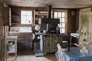 Kitchen Old Fashioned Rustic Cabin Kitchens Also Decorated