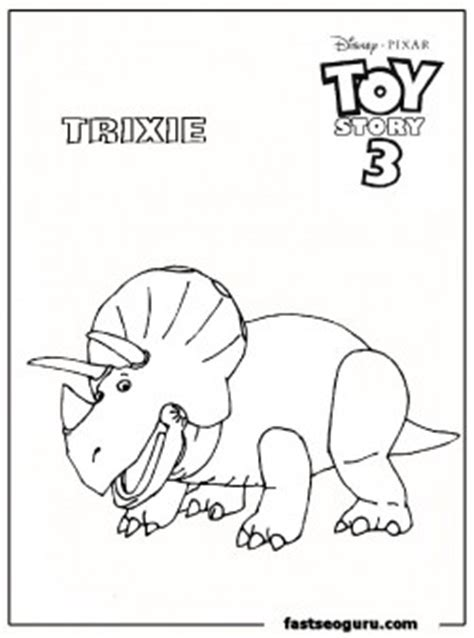 toy story trixie kids coloring pages printable coloring