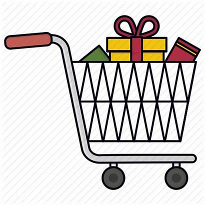 Shopping Icon Trolley Trolly Gift Purchase Vectorified