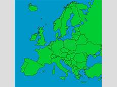 Map of Europe with borders stock illustration