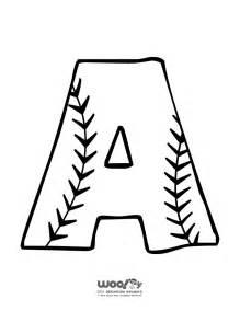 Printable Baseball Alphabet Letters