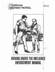 California Highway Patrol Dui Enforcement Manual