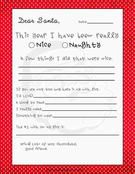 Letter To Santa Template Free Printable Dear Santa Letter Templates Hd Writing Co