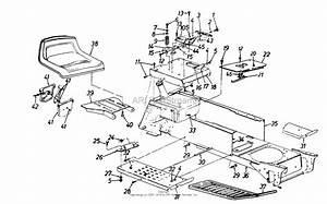 Mtd 146k828h000  1996  Parts Diagram For Seat  Frame