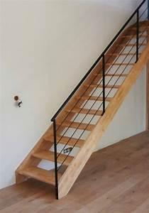 Escalier Droit Bois : escalier droit en h v a sans contremarche atelier des ~ Premium-room.com Idées de Décoration