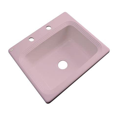 Wild Rose 2hole Single Bowl Kitchen Sink, Thermocast