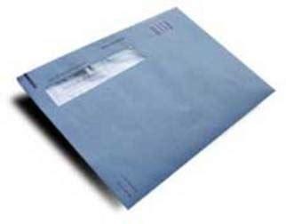 reclameboek belastingblauwe envelop