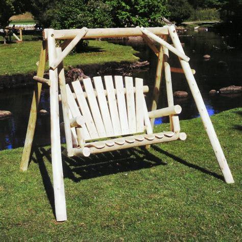cedar outdoor log swing cedar garden swing