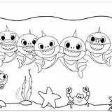 Coloring Shark Pinkfong Mitraland sketch template