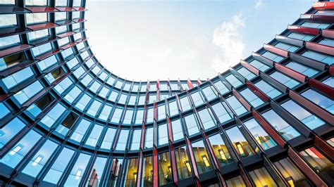 wallpaper architecture office building oval glass hd