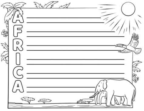 africa acrostic poem template  printable papercraft
