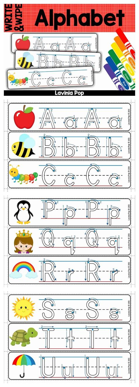 alphabet write  wipe  correct letter formation