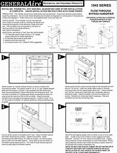 Genie 1042 User Manual Generalaire Humidifier Manuals And