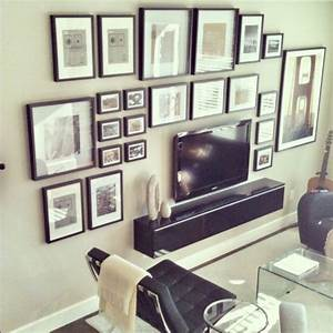 Ideas solutions for the wall behind tv by jenna