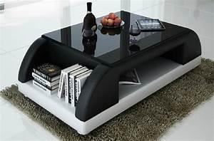 Table Basse Noir : table basse design valina noir et blanc mobilier priv ~ Teatrodelosmanantiales.com Idées de Décoration