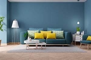 Blue, Living, Room, Design, Ideas