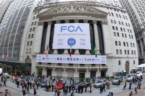 Chrysler Motor Company Stock by Fiat Chrysler Automobiles Starts Trading On New York Stock