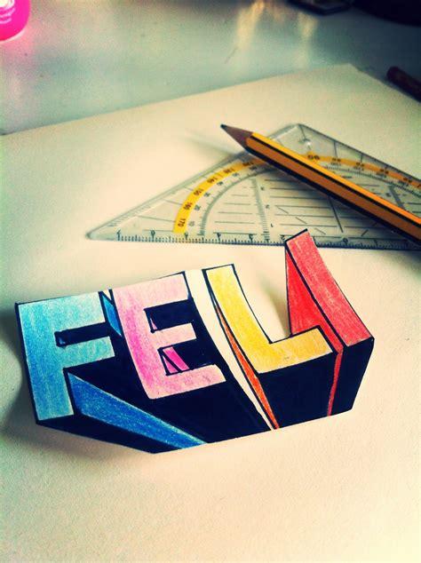 3d Zeichnen by 3d Buchstaben Mit Fluchtpunkt Zeichnen Feli Draws