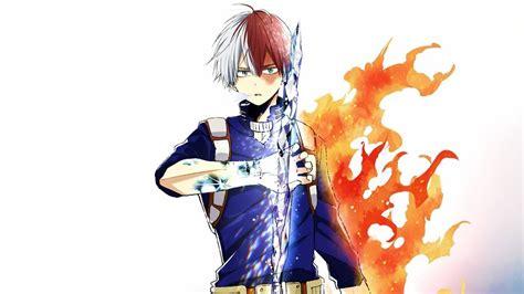 shoto todoroki ice fire  hero academia