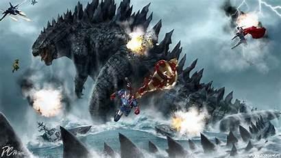 Godzilla Vs Desktop Wallpapers Avengers Computer Backgrounds