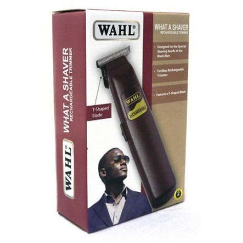 wahl shaver rechargeable beard trimmer
