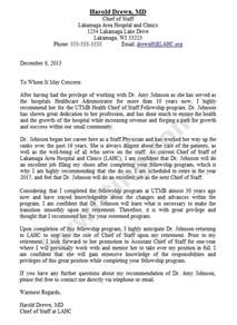 Medical School Recommendation Letter Sample