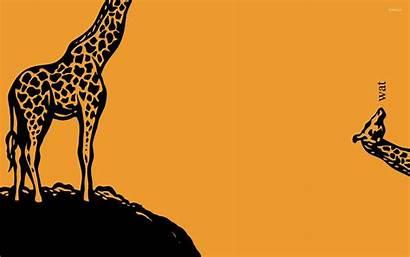 Giraffe Funny Wallpapers Cartoon Wat Background Giraffes