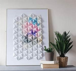 Diy origami wall display design sponge