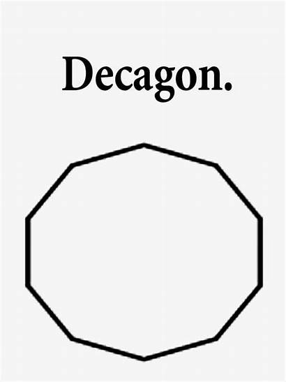 Shapes Printable Coloring Geometry Drawing Clipart Decagon