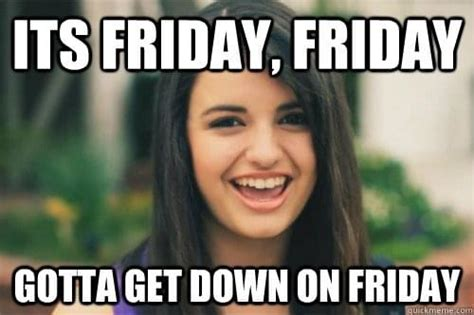 Rebecca Black Memes - a typical friday in the office as told in gifs social talent