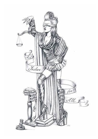 Justice Lady Tattoo Tattoos Scale Hand Banner