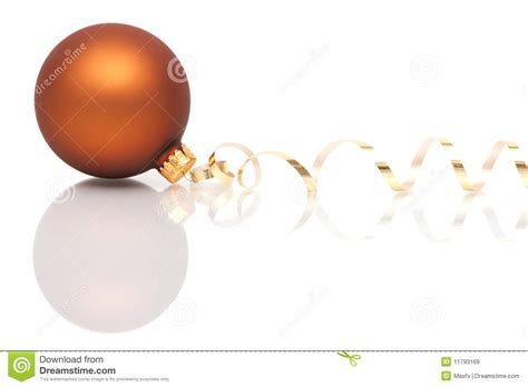 brown christmas bauble royalty free stock images image
